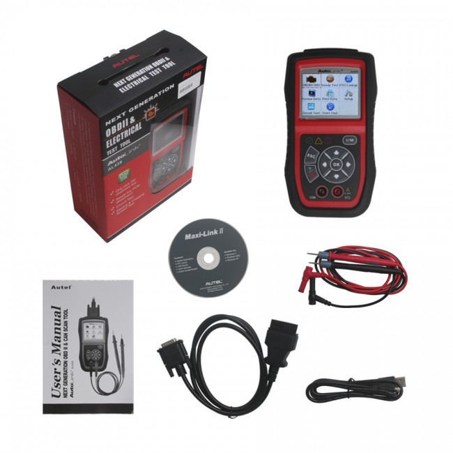 Autel AutoLink AL439 OBDII EOBD & CAN Scan and Electrical Test Tool Free Shipping