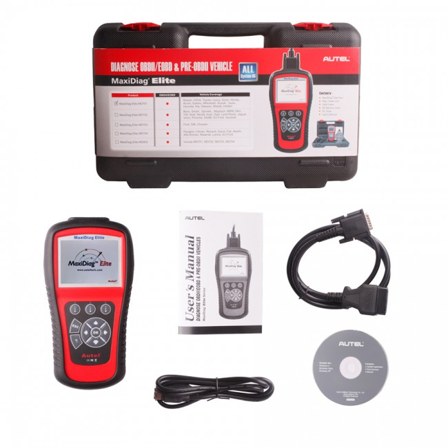 Autel MaxiDiag Elite MD702 Four System with Data Stream European Vehicle Diagnostic Tool Shipping from China