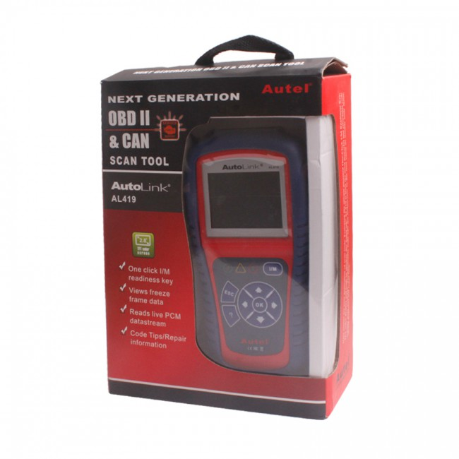 Autel AutoLink AL419 OBDII EOBD & CAN Code Reader Free Shipping