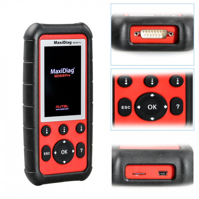 [New Year Sale]Autel MaxiDiag MD808 Pro All System Scanner Support BMS/Oil Reset/ SRS/ EPB/ DPF/ SAS/ ABS Advanced MaxiCheck Pro and MD802