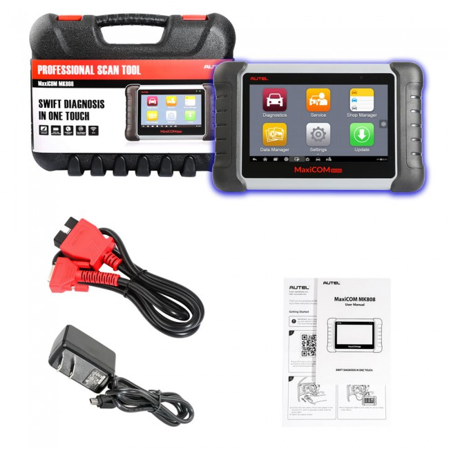 Original Autel MaxiCOM MK808 OBD2 Diagnostic Scan Tool with All System and Service Functions (MD802+MaxiCheck Pro)