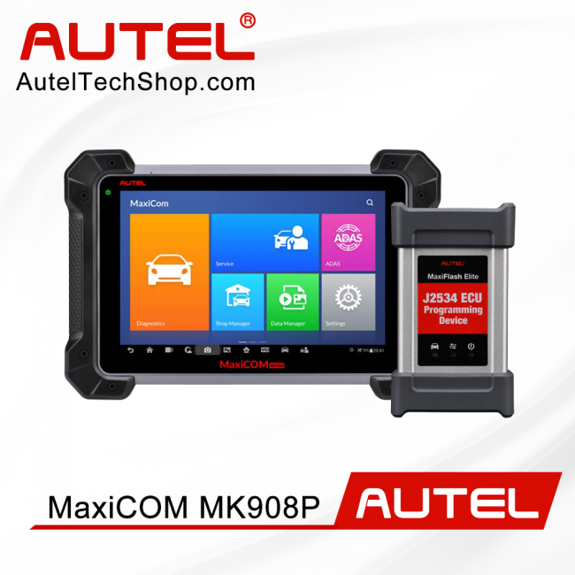 Autel MaxiCOM MK908P Diagnostic Tool with ECU Coding & J2534 Programming Bi-directional Control (Advanced Version Of Autel MS908P)