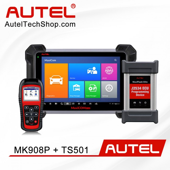 Autel MaxiCOM MK908P Diagnostic Tool with ECU Coding & J2534 Programming Function (Advanced Version Of Autel MS908P) Get Autel TS501