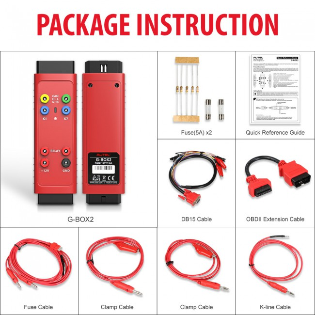 100% Original Autel G-BOX2 Tool for Mercedes Benz All Key Lost Work with Autel MaxiIM IM608/IM508