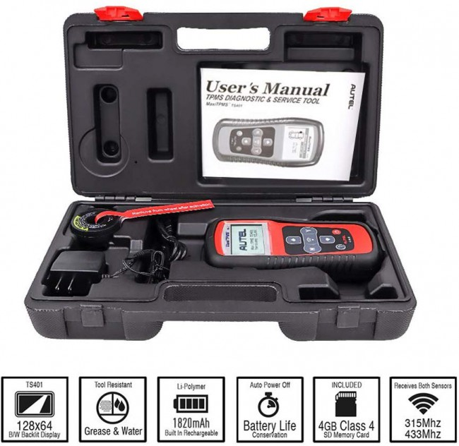 Autel MaxiTPMS® TS401 V5.22 TPMS Diagnostic and Service Tool Free Shipping From US