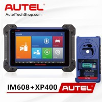 Autel MaxiIM IM608 Automotive OBD2 Scanner with XP400 and MaxiFlash ECU Reprogrammer IMMO & Key Programming & ECU Coding (NO IP Limitation)