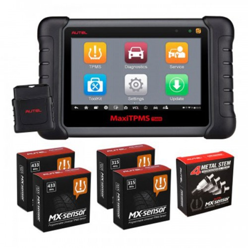 Original Autel MaxiTPMS TS608 Complete TPMS & Full-System Service Tablet (Including TS601+MD802+MaxiCheck Pro) Update Online