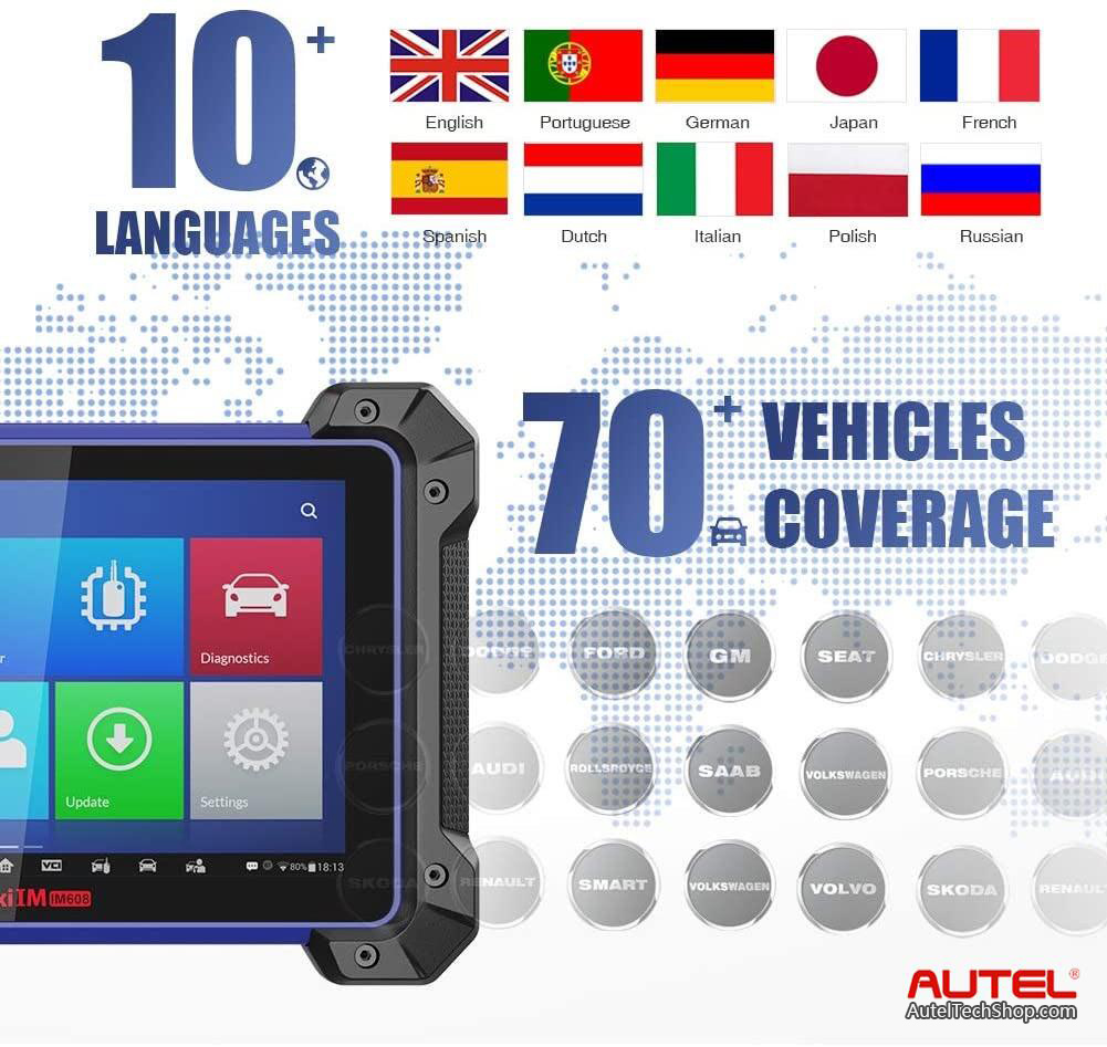 Autel MaxiIM IM608 IMMO Vehicle List