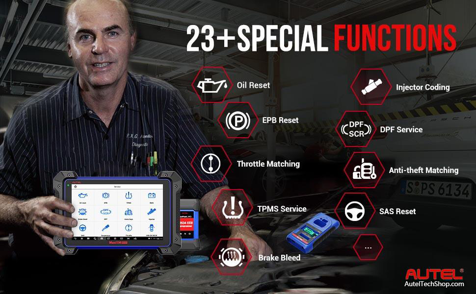 Autel IM608 23 Service Functions at Your Fingertips